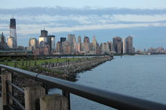 Skyline a Sunset. Skyline of New York taken from New Jersey Royalty Free Stock Photography