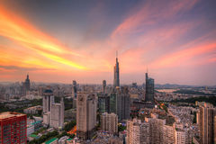 Skyline at Sunset Royalty Free Stock Photography