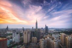 Skyline at Sunset Royalty Free Stock Photo