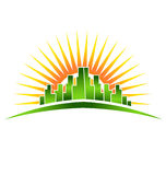 Skyline Sunshine Logo Stock Photos