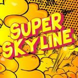 Skyline super - palavras do estilo da banda desenhada ilustração stock