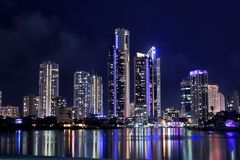 Skyline at Surfers Paradise Royalty Free Stock Photography