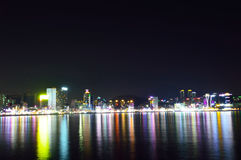 Skyline of Suyeong distric at night, Busan Stock Photography