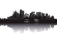Skyline of Sydney. Illustration of the Skyline of Sydney
