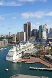 Australia, Sydney, Skyline, Circular Quay, New South Wales. Skyline of Sydney with Circular Quay, Australia, New South Wales Royalty Free Stock Images