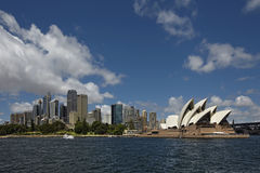 Skyline Sydney with Opera House Royalty Free Stock Photo