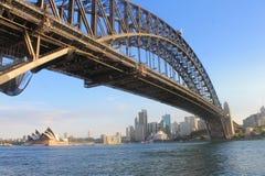 Sydney Skyline Harbour Bridge New South Wales, Australia Royalty Free Stock Images