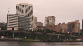 Skyline of Tacoma, Washington stock video