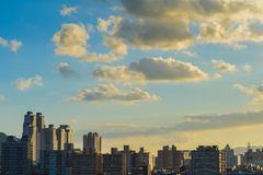 The skyline of Taipei city Royalty Free Stock Photos