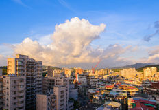The skyline of Taipei city Stock Image