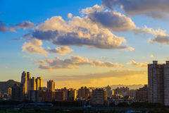 The skyline of Taipei city Stock Photography