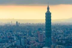 Skyline of taipei city, taiwan Stock Photography