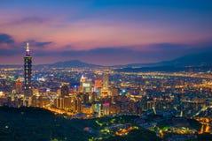 Skyline of taipei city, taiwan Stock Image