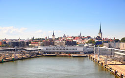 Skyline of Tallin Stock Images