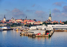 Skyline of Tallinn stock images