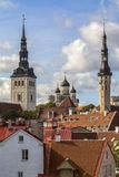 Skyline of Tallinn in Estonia royalty free stock images
