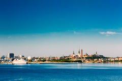 Skyline Of Tallinn And Harbour, Coast, Port Royalty Free Stock Image