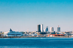 Skyline Of Tallinn And Harbour, Coast, Port. Stock Image