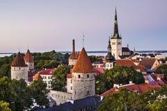 Skyline Tallinns Estland Lizenzfreie Stockfotos