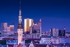Skyline Tallinns Estland Stockfotografie