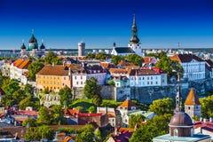 Skyline Tallinns Estland Stockfoto