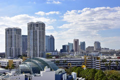 Skyline of Tampa Florida with clouds Royalty Free Stock Photos