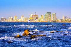 Skyline of Tel Aviv city, Israel Stock Photo