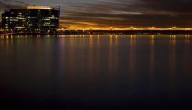 Skyline of Tempe Arizona at Sunset Stock Images