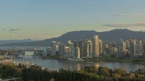 Skyline Timelapse Vancouver stock footage