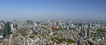 The skyline of Tokyo Royalty Free Stock Images