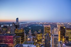 Skyline from Top of the rocks, Manhattan, New-york, USA Royalty Free Stock Photo