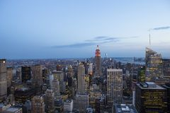 Skyline from Top of the rocks, Manhattan, New-york, USA Stock Images