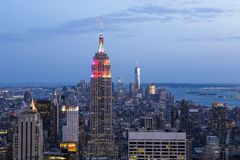 Skyline from Top of the rocks, Manhattan, New-york, USA Royalty Free Stock Photos