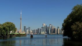 Skyline Toronto, Canada stock video footage