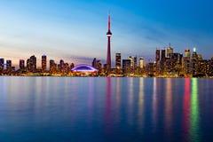 Toronto DownTown. Skyline of Toronto DownTown with Lake Ontario stock photography