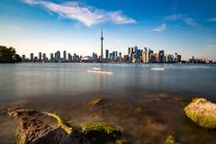 Toronto DownTown. Skyline of Toronto DownTown with Lake Ontario royalty free stock photo