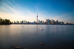 Toronto DownTown. Skyline of Toronto DownTown with Lake Ontario Royalty Free Stock Photography