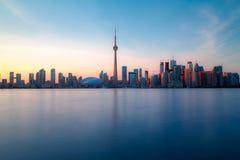 Toronto DownTown. Skyline of Toronto DownTown with Lake Ontario Stock Image