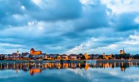 Skyline of Torun old town in Poland. Skyline of Torun old town, UNESCO world heritage in Poland stock photos