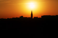 Skyline of a town of Akko, Israel Stock Photography
