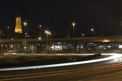 Skyline and traffic. Skyline of the city of Arnhem, The Netherlands Royalty Free Stock Photo