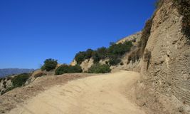 Skyline Trail. Dirt road on a hillside in Griffith Park Royalty Free Stock Photos