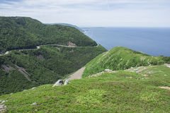 Skyline Trail - Ocean, Cape Breton Highlands Royalty Free Stock Photo