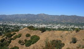 Skyline Trail Panorama. Panoramic view of the mountains from Griffith Park Stock Photo