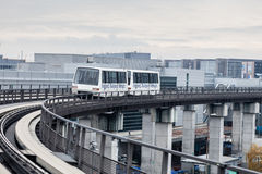 Skyline train at the Frankfurt International Airport Stock Photography