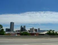 Skyline Tulsas, Oklahoma, im Stadtzentrum gelegen stockfotografie