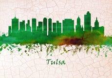 Skyline Tulsas Oklahoma stock abbildung