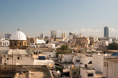 Skyline of Tunis at dawn. Stock Images