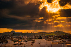 Skyline of Tunis at dawn. Royalty Free Stock Photography