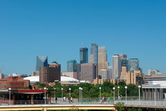 Skyline from  U of Minnesota. A picture of Minneapolis skyline from the University of Minnesota Royalty Free Stock Image